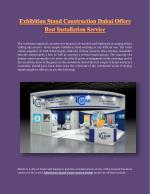 Exhibition Stand Construction Dubai Offers Best Installation Service