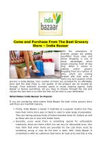 Come and Purchase From The Best Grocery Store – India Bazaar