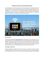 Unlimited Internet Access with Wifi Rental Japan