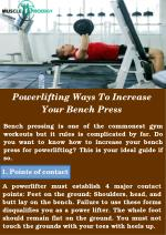 The Best Bench Press Workouts At Gym