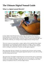 The Ultimate Digital Nomad Guide
