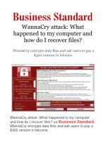 WannaCry attack: What happened to my computer and how do I recover files?
