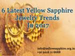 6 Latest Yellow Sapphire Jewelry Trends in 2017