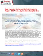 Bug Tracking Software Market Research Report 2017-2021 By Radiant Insights Inc
