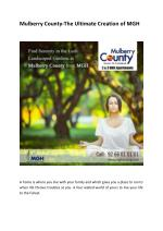 Mulberry County-The Ultimate Creation of MGH