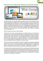 Can you improve your online sales with an effective eCommerce web design?