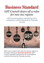GST Council clears all 9 rules for new tax regime
