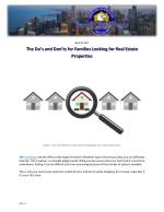 The Do's and Don'ts for Families Looking for Real Estate Properties