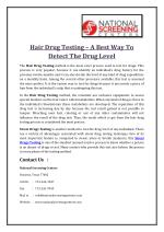 Hair Drug Testing – A Best Way To Detect The Drug Level