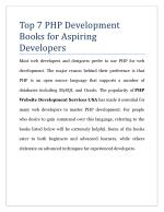 Top 7 PHP Development Books for Aspiring Developers
