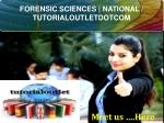 FORENSIC SCIENCES | NATIONAL / TUTORIALOUTLETDOTCOM