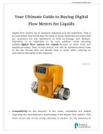 Liquid Flow Meters and Switches - Proteus Industries