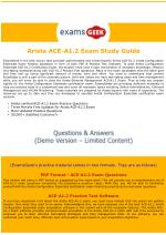 Arista Certified Engineering Associate ACE-A1.2 Exam Dumps