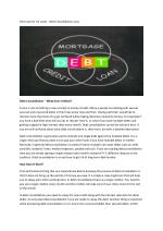 One Loan for All Loans - Debt Consolidation Loan