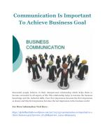 Communication Is Important To Achieve Business Goal