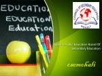 Quality Public Education Board Of Secondary Education