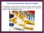 Electrical Maintenance Supplies