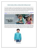 Little Fashion Fellows- Online Kids Clothing Trend