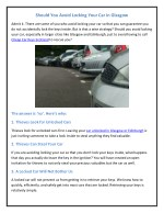 Should You Avoid Locking Your Car in Glasgow?