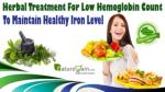 Herbal Treatment For Low Hemoglobin Count To Maintain Healthy Iron Level