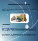 Know More about Student Storage Services
