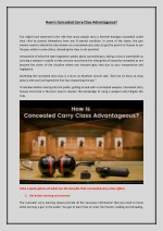 Benefits of Concealed Carry Class