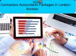 Contractors Accountants Packages in London- Accotax