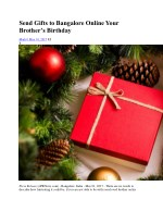 Send Gifts Delivery to Bangalore