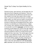 Simple Tips To Keep Your Spine Healthy As You Age
