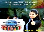 BUSS 2100 COMPETING AGAINST / TUTORIALOUTLETDOTCOM