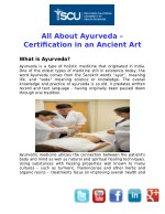 All About Ayurveda Certification Programs