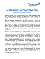 Photopheresis Products Market - Positive long-term growth outlook 2024