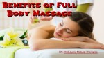 Full Body Massage Helps to Recover From Surgical Effects