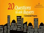 Questions to ask buyers for Commercial Property