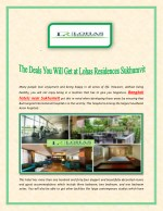 The Deals You Will Get at Lohas Residences Sukhumvit
