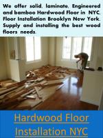 Wood floor nyc