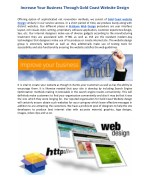 Increase Your Business Through Gold Coast Website Design