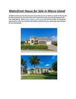 Waterfront Homes for Sale in Marco Island Florida