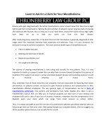 Claim for Your Mesothelioma with Throneberry Law Group