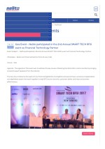 Goa Event - Nelito participated in the 2nd Annual SMART TECH BFSI event as Financial Technology Partner