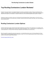 Fraud, Deceptions, and Downright Lies About Roofing Contractors London Exposed