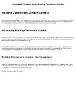 Life, Death and Roofing Contractors London