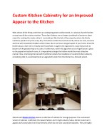 Custom Kitchens | Manufacture and installation of custom kitchens | Furniture on request
