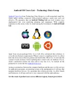 Android OS Users List – Technology Data Group