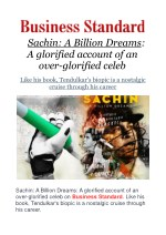 Sachin: A Billion Dreams: A glorified account of an over-glorified celeb