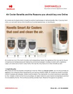 Air cooler benefits and the reasons you should buy one online