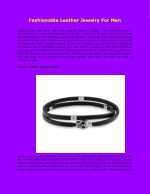 Fashionable Leather Jewelry For Men