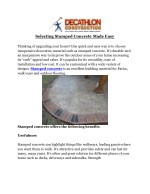 Selecting Stamped Concrete Made Easy