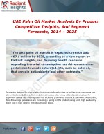 UAE Palm Oil Market Growth, Services, Sales and Overview To 2014 - 2025
