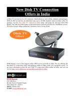 New Dish TV Connection Offers in India